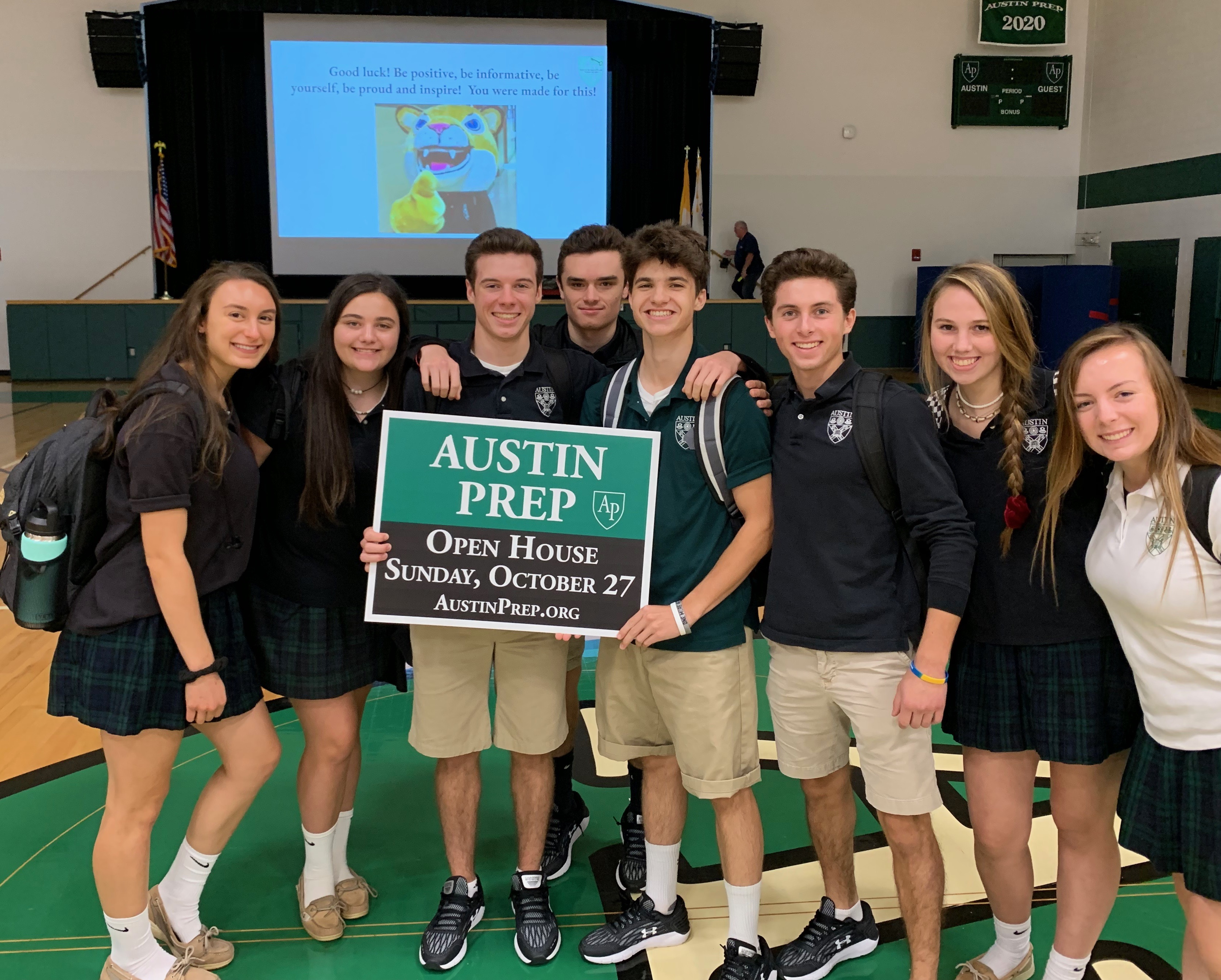 Students at the Austin Prep open house