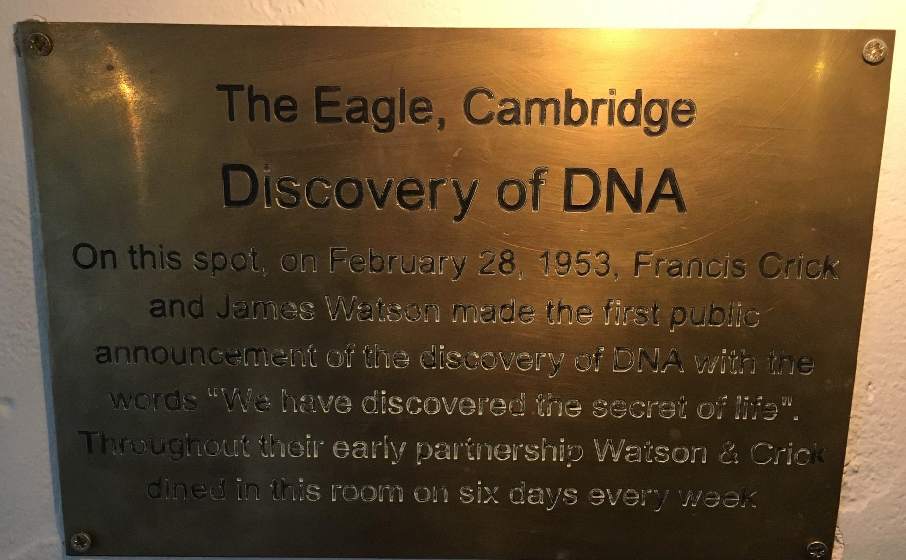 The Eagle, Cambridge plaque
