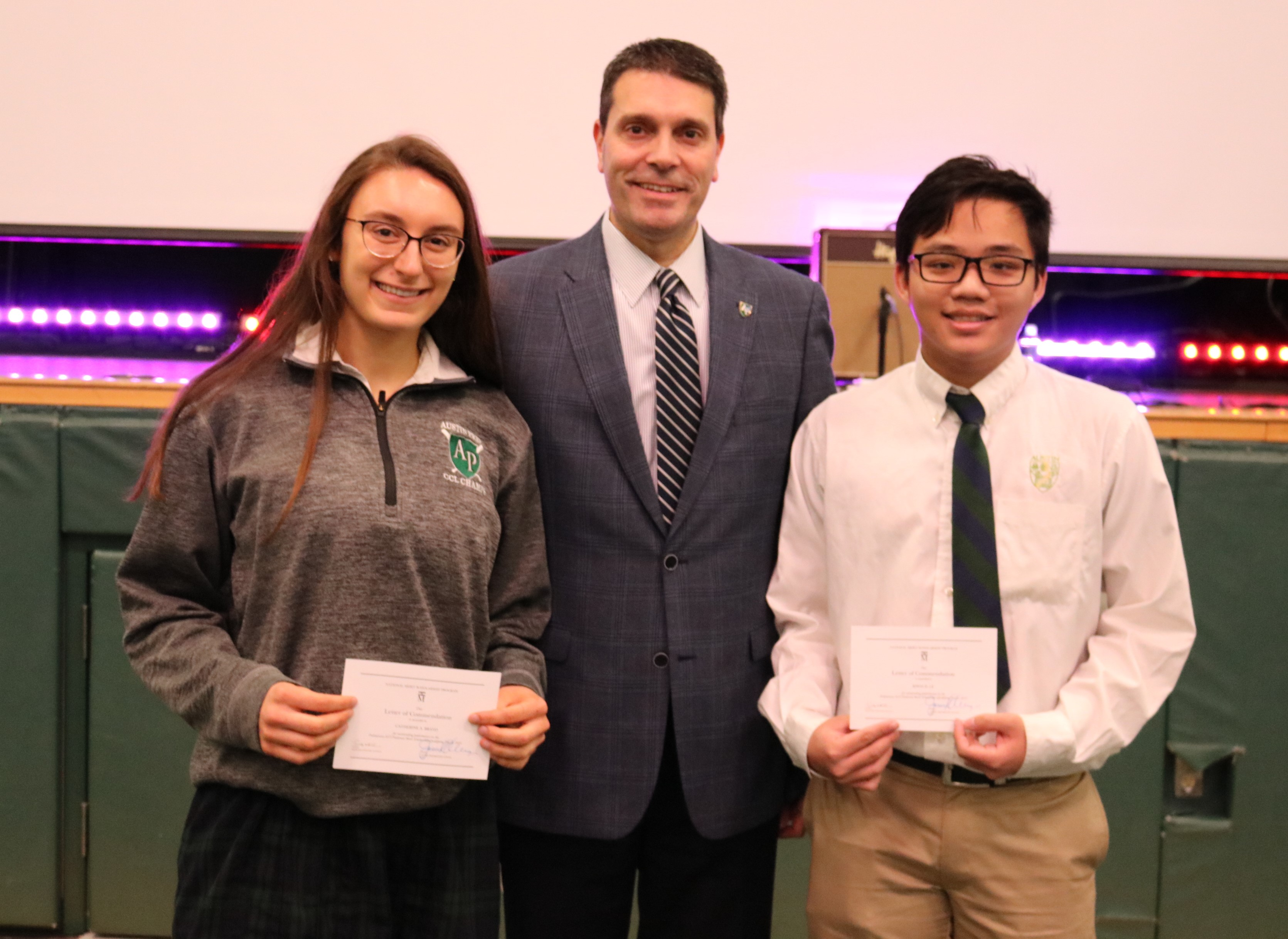 Commended students at the national merit scholarship program