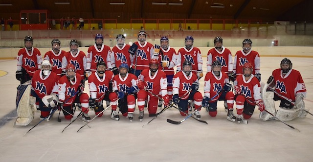 Kylie Currier '16 is shown with her team from the Czech Hockey Challenge Cup in Prague in the summer of 2018.